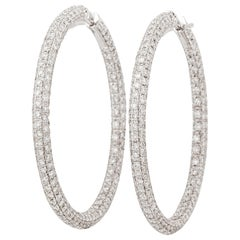 Garavelli Large Hoop Diamond Earrings