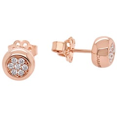 Garavelli Rose Gold Pave Diamonds Studs from New Giotto Collection