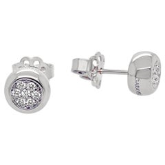Garavelli White Gold Pave Diamonds Studs from New Giotto Collection