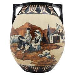 Garcia De Diego at Ciboure Large Stoneware Vase, Late 1940s