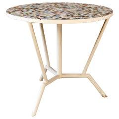 Garden Colored Table with Tiles, circa 1960
