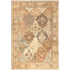 Garden Design Antique Persian Bakhtiari Rug. Size: 11 ft x 16 ft