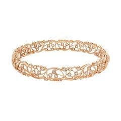 Garden Flower Gold Diamond Bracelet