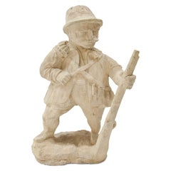 Garden Gnome, Hunter, 19th Century