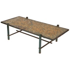 Garden Low Table with Green Slate Top