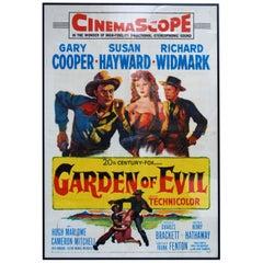 """Garden Of Evil"" Original US Film Poster, 1954"