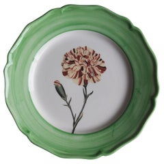 Garden of the Sultan Hand Painted Ceramic Plate Made in Italy Green