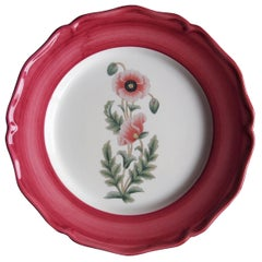 Garden of the Sultan Hand Painted Ceramic Plate Made in Italy Pink