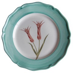 Garden of the Sultan Hand Painted Ceramic Plate Made in Italy Turquoise