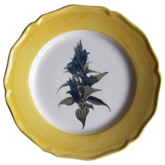 Garden of the Sultan Hand Painted Ceramic Plate Made in Italy Yellow