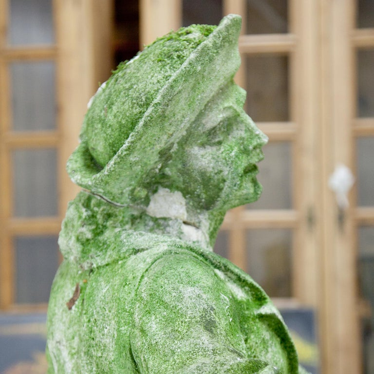 Garden Sculpture of a Musician, prob. Italy, 20th Century For Sale 6