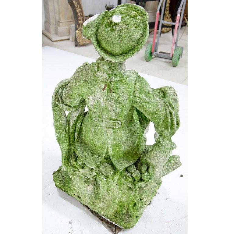Garden Sculpture of a Musician, prob. Italy, 20th Century For Sale 7