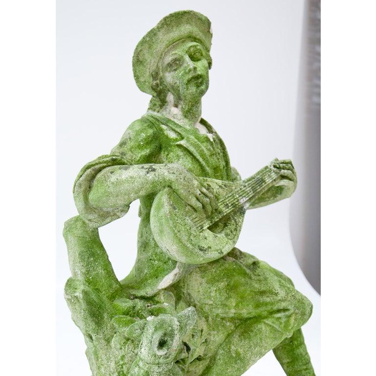 Garden Sculpture of a Musician, prob. Italy, 20th Century In Good Condition For Sale In Greding, DE