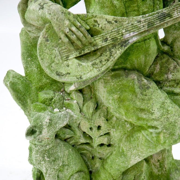 Garden Sculpture of a Musician, prob. Italy, 20th Century For Sale 2