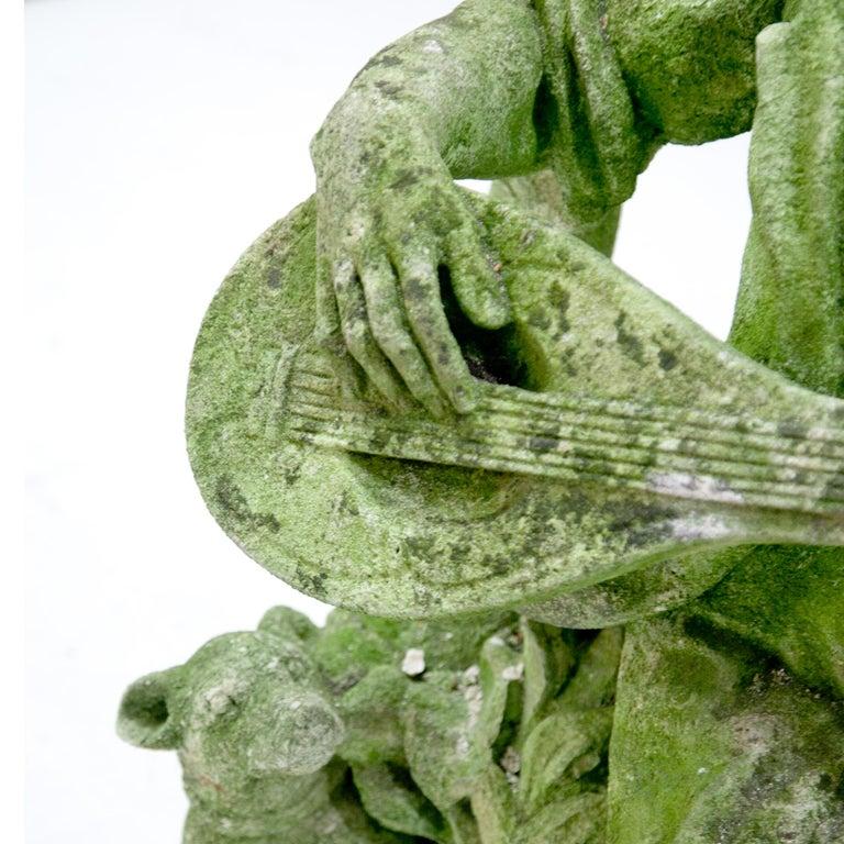 Garden Sculpture of a Musician, prob. Italy, 20th Century For Sale 3