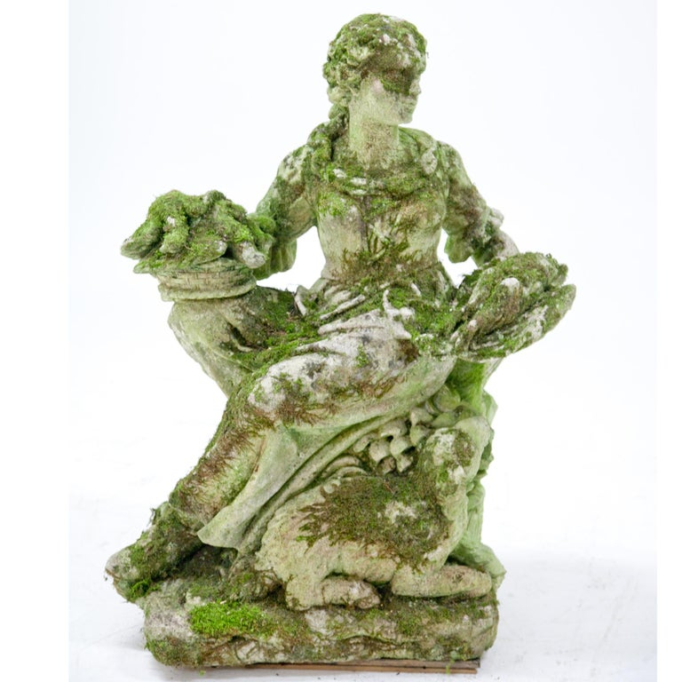 Garden Sculpture of a Poultry Seller, prob. Italy, 20th Century For Sale 10