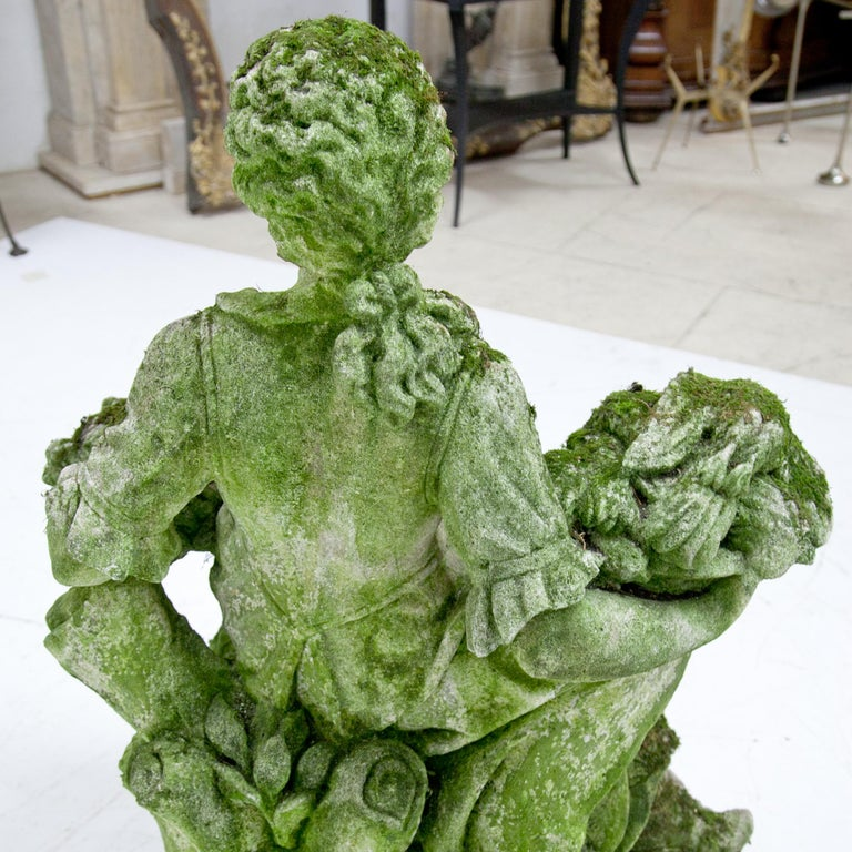 Garden Sculpture of a Poultry Seller, prob. Italy, 20th Century For Sale 13