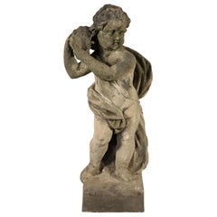 Garden Scuplture with Putto, Stone, Italy, 19th Century