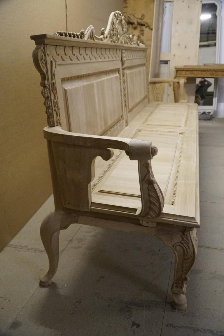 Hand-Crafted Garden Seats in the Manner of William Kent For Sale
