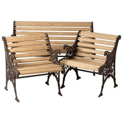 Garden Set in Cast Iron and Wood, France, circa 1930