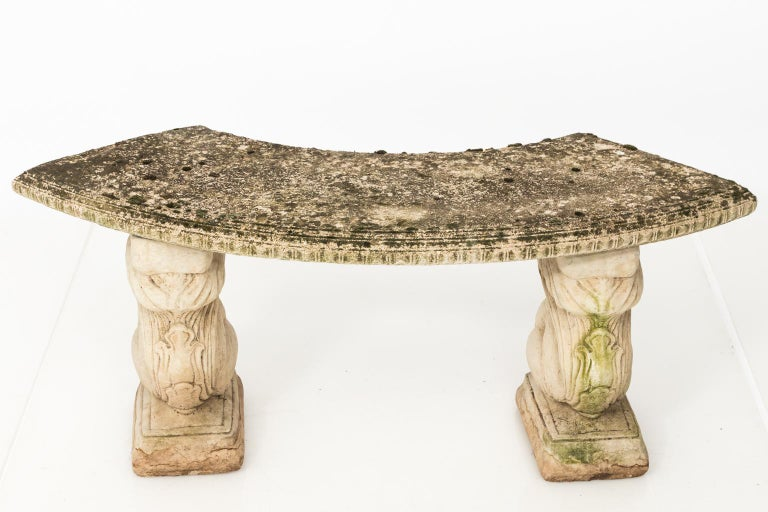 Stone Garden Squirrel Base Bench For Sale