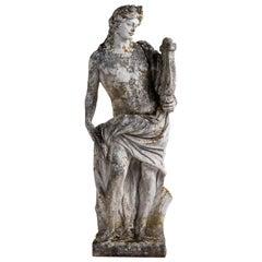 Garden Statue of Apollo, England, circa 1950