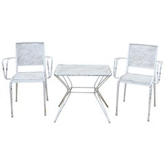 Garden Table and Chairs Set in the Style of Mathieu Matégot, circa 1960