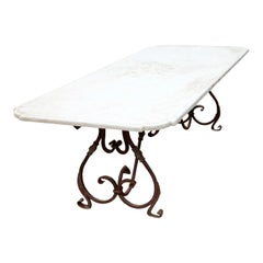 Garden Table with Stone Top