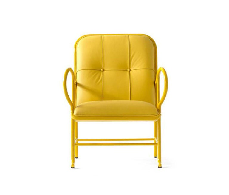 Gardenias indoor armchair designed by Jaime Hayon for BD Barcelona. Spanish artist-designer Jaime Hayon is one of the most acclaimed creators worldwide. Hayon's esteem and knowledge of artisan skills and his inherent creativity has allowed him to