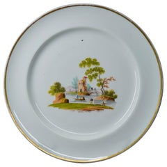 Gardner, Moscow, Russian Porcelain Plate with Landscape, circa 1810