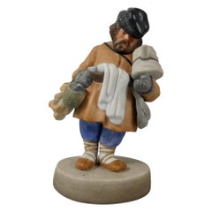Gardner of Moscow biscuit porcelain figure 'Sbiten Vendor', c. 1870.