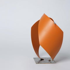 Elm Road - Metal, Abstract Sculpture, Contemporary Art, Orange, Gareth Griffiths