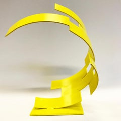 Hout Bay - Metal, Abstract Sculpture, Contemporary Art, Yellow, Gareth Griffiths