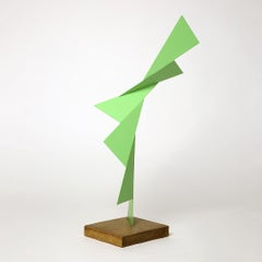 Paramount - Metal, Abstract Sculpture, Contemporary Art, Green, Gareth Griffiths
