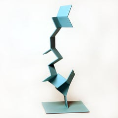 Trelic - Metal, Abstract Sculpture, Contemporary, Art, Blue, Gareth Griffiths