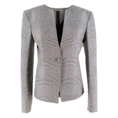 Gareth Pugh Prince of Wales Checked Wool Blazer SIZE 42
