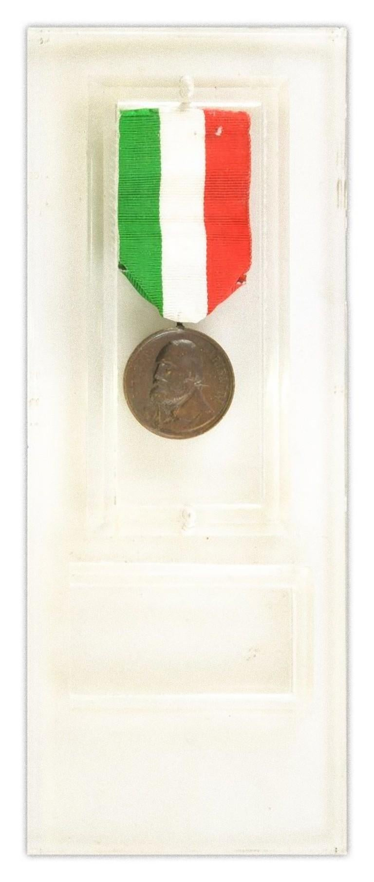 Garibaldi Bronze Medal by Italian Manufacture, 1902 In Good Condition For Sale In Roma, IT