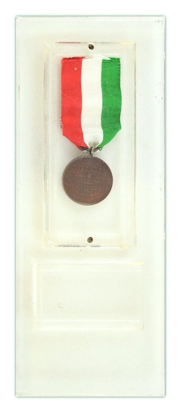 Early 20th Century Garibaldi Bronze Medal by Italian Manufacture, 1902 For Sale