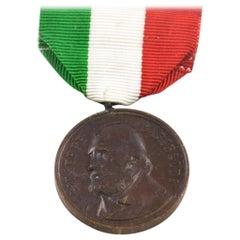 Garibaldi Bronze Medal by Italian Manufacture, 1902