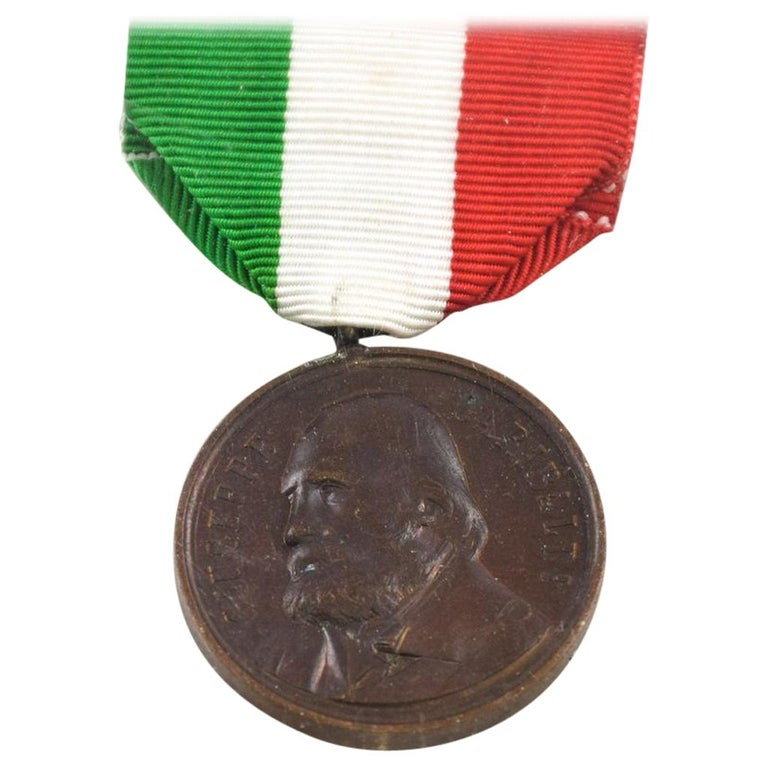 Garibaldi Bronze Medal by Italian Manufacture, 1902 For Sale