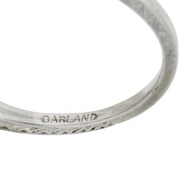 Garland Edwardian 0.30 Carat Diamond Foliate Dinner Ring For Sale 2