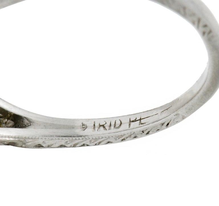 Garland Edwardian 0.30 Carat Diamond Foliate Dinner Ring For Sale 3