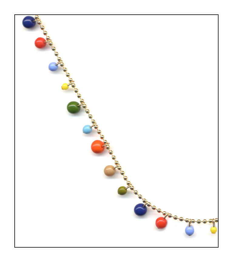 Vintage German glass beads, 14k gold fill chain and findings, 2mm chain