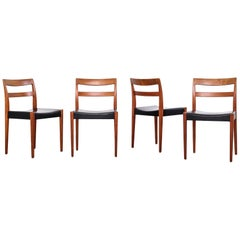 """""""Garmi"""" Teak Dining Chairs by Nils Jonsson for Troeds, Set of 4"""