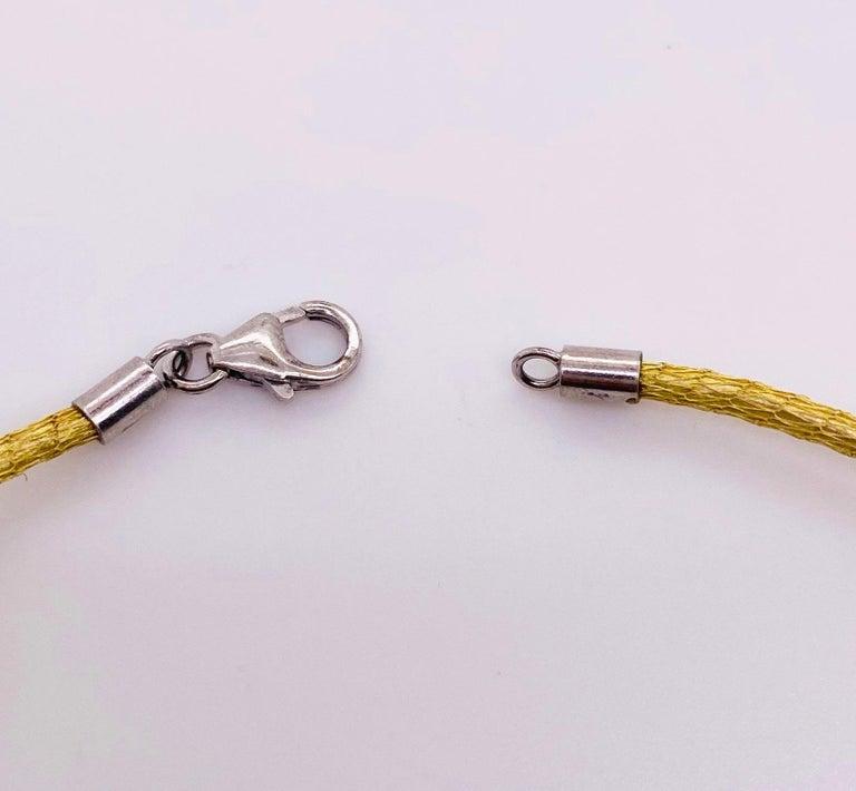Garnet Silk Necklace, 18k Gold Drop Garnet Pendant, Brazil, Emerald Cut, Red Gem For Sale 2