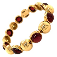 Garnet Yellow Gold Bracelet