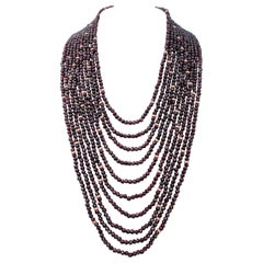 Garnets, Multi-Strands Necklace