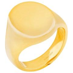Garrard 18 Karat Yellow Gold Small Oval Signet Ring