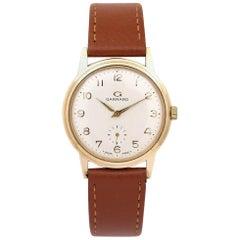 Garrard 9 Karat Gold Gents Swiss Mechanical Wristwatch Original Box, circa 1980