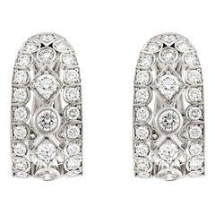 Garrard 'Albemarle' 18 Karat White Gold Wrap Earrings